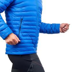 Doudoune de trek montagne | TREK 100 DUVET bleu homme