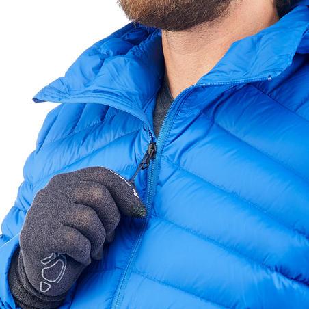 Чоловічий пуховик TREK 500 для гірського трекінгу - Синій