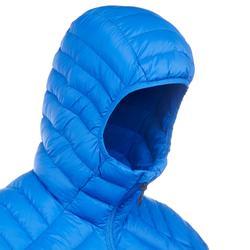 Abrigo Chaqueta Plumón Montaña y Trekking TREK100 Acolchada Hombre Azul