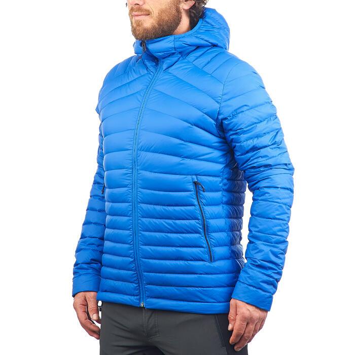 Doudoune trekking montagne TREK500 homme bleu