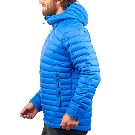 Men's Mountain Trekking Down Jacket Trek 100 - Blue