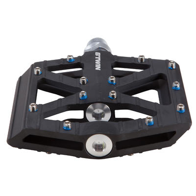 Aluminium Freeride Mountain Bike Pedals - Black