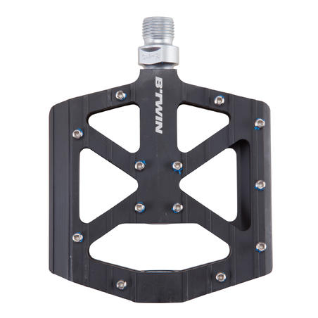 Aluminium Freeride Mountain Bike Pedals - Black