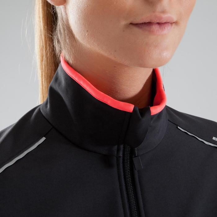 Fietsjas 100 dames zwart roze - 1225448