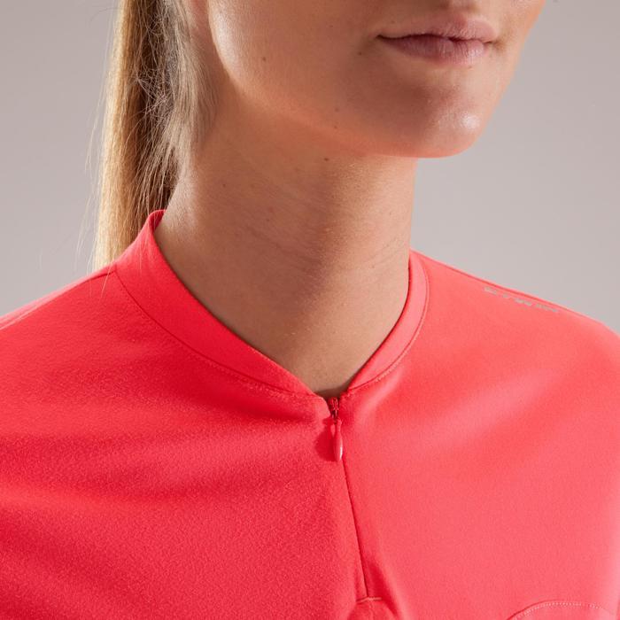Fietsshirt 100 met lange mouwen voor dames roze - 1225449