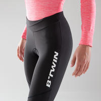 500 Women's Road Cyclotourism Tights - Black