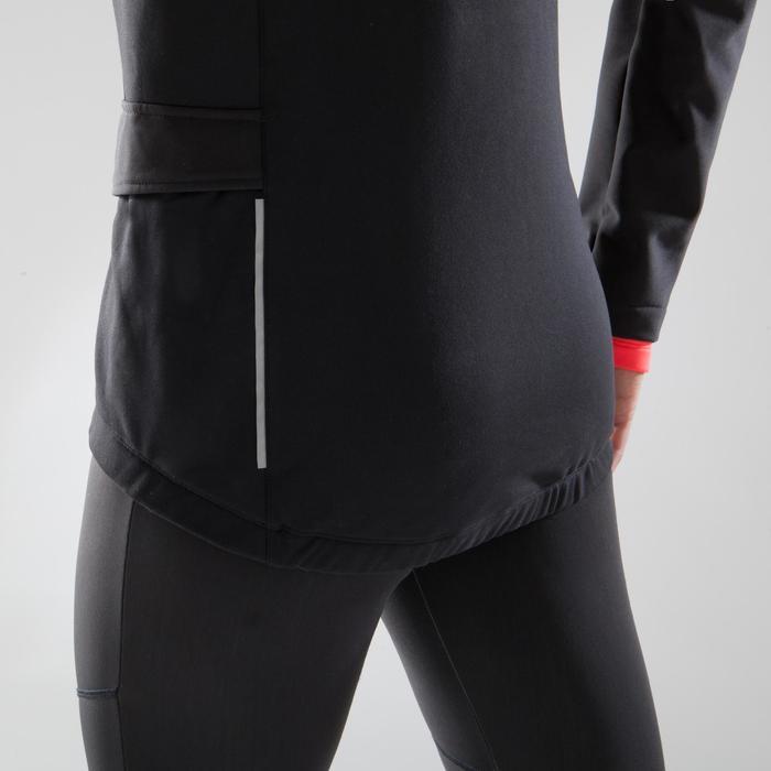 女款公路自行車休閒外套100-黑色