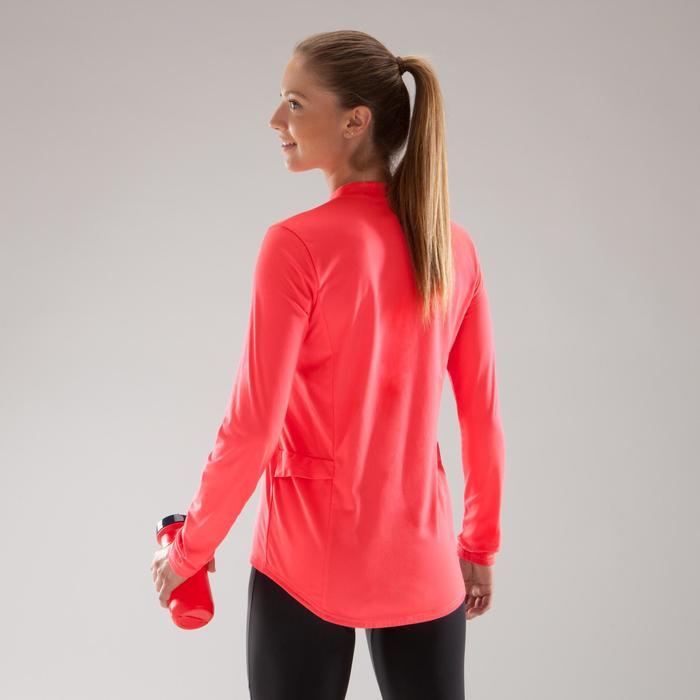 Fietsshirt 100 met lange mouwen voor dames roze - 1225526