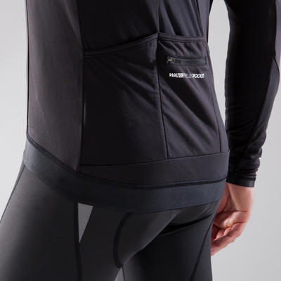 900 Long-Sleeved Road Cycling Cyclotourism Jersey - Black