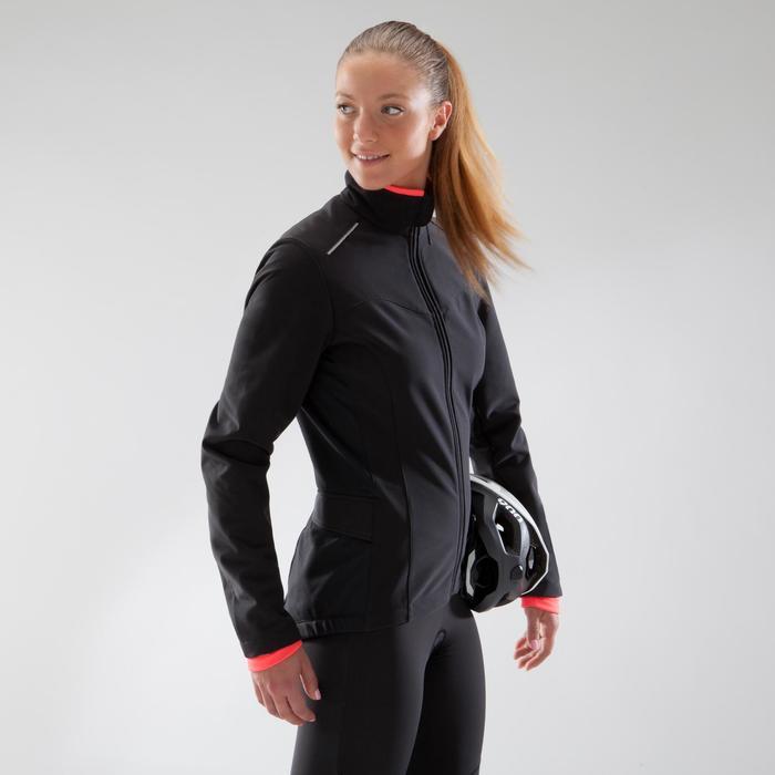 Fietsjas 100 dames zwart roze - 1225545
