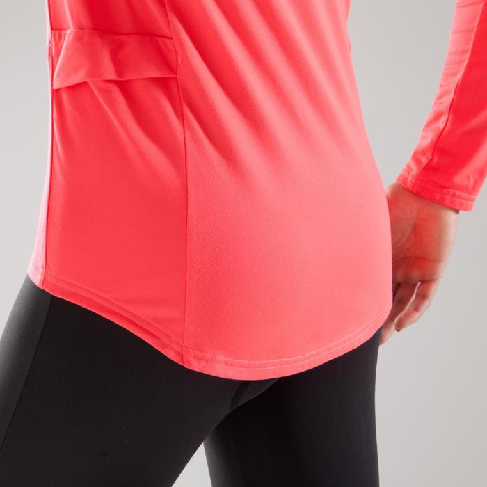 女款長袖自行車100 - 粉紅色