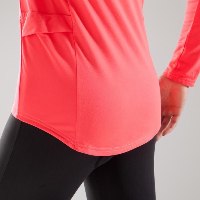 Fietsshirt 100 met lange mouwen voor dames roze - 1225579