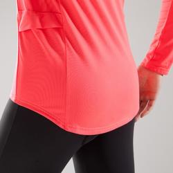 Maillot manches longues vélo route TRIBAN femme 100 rose