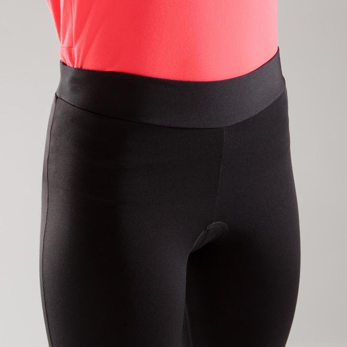 Lange Radhose 100 Rennrad Damen schwarz