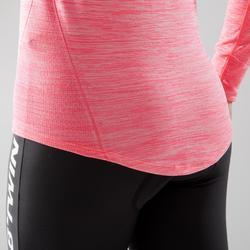 Prenda interior manga larga bicicleta mujer 500 rosa