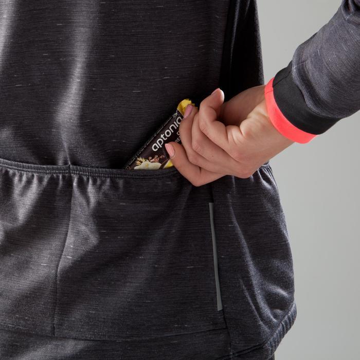 Fietsshirt 500 met lange mouwen voor dames gemêleerd zwart