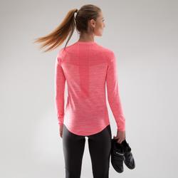 Sous-vêtement vélo manches longues femme 500 rose