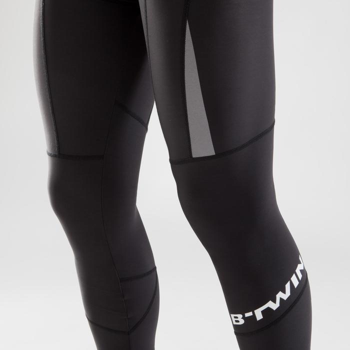 Lange fietsbroek 900 zonder bretels voor heren wielrennen koud weer zwart