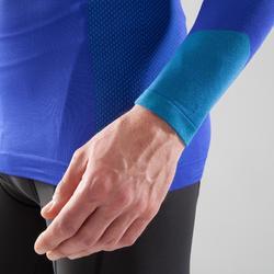 Fahrrad-Unterwäsche Langarm-Funktionsshirt 500 Herren blau