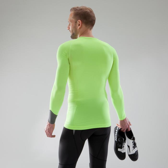Fietsondershirt met lange mouwen voor heren racefiets 500 geel - Warm