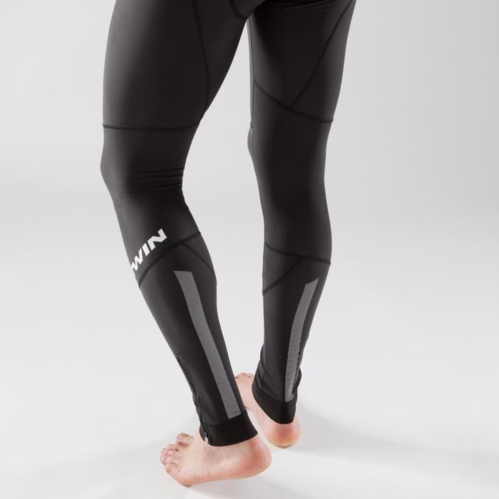 Lange fietsbroek zonder bretels voor heren racefietsen koud weer 900 zwart