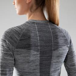 Fietsondershirt met lange mouwen voor dames 500 zwart