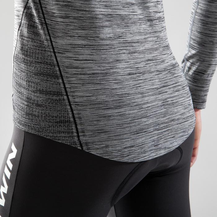 Sous-vêtement vélo manches longues femme 500 noir