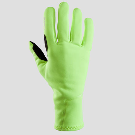 500 Spring/Autumn Cycling Gloves - Neon Yellow