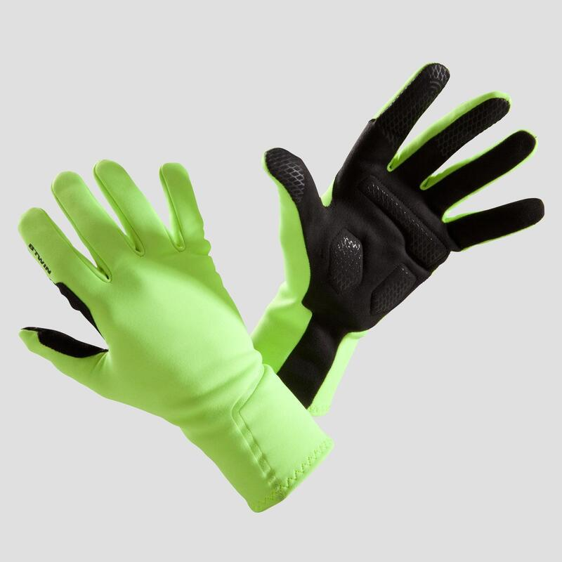 Spring/Autumn Cycling Gloves 500 - Neon Yellow