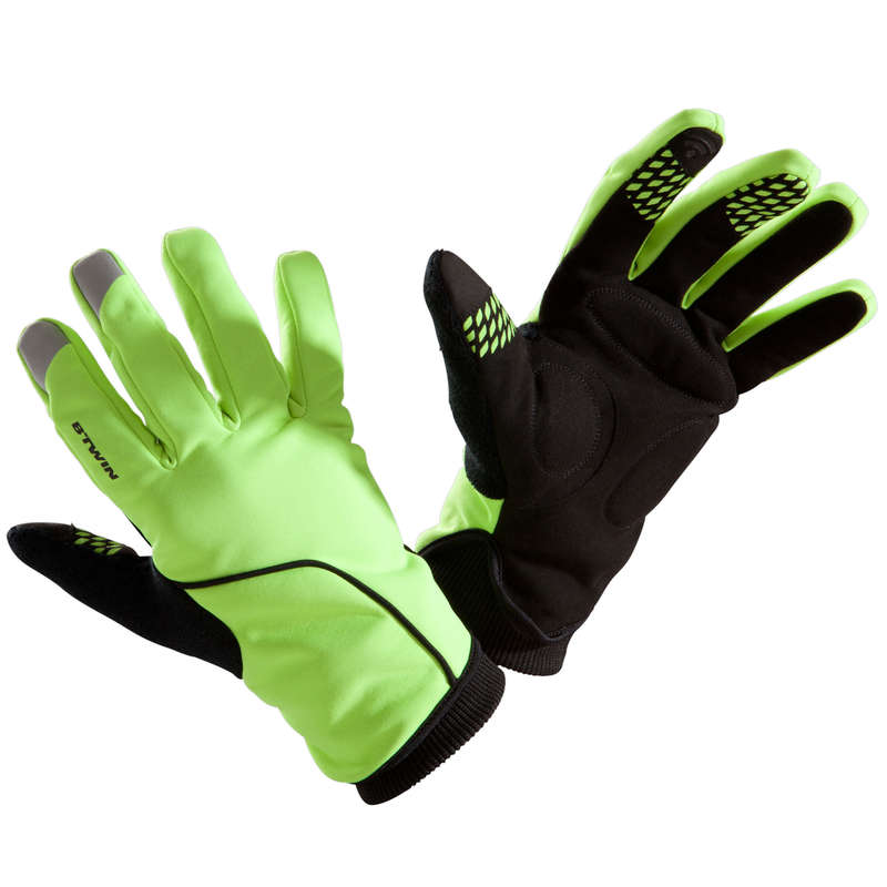 COLD WEATHER ROAD CYCLING GLOVES Cycling - RC 500 Winter Cycling Gloves - Fluo TRIBAN - Clothing