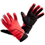 Zimske kolesarske rokavice 500 - rdeče