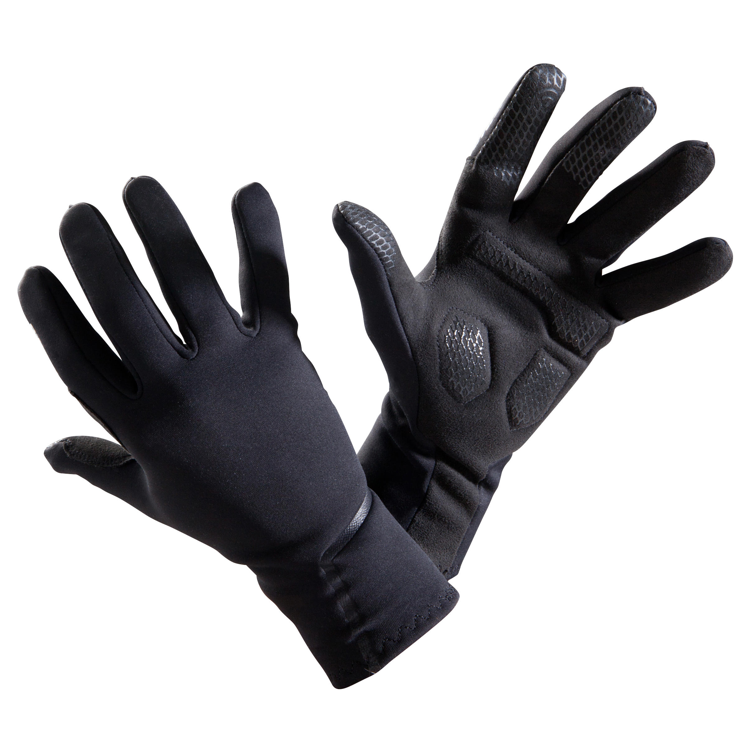 500 Spring/Autumn Cycling Gloves - Black
