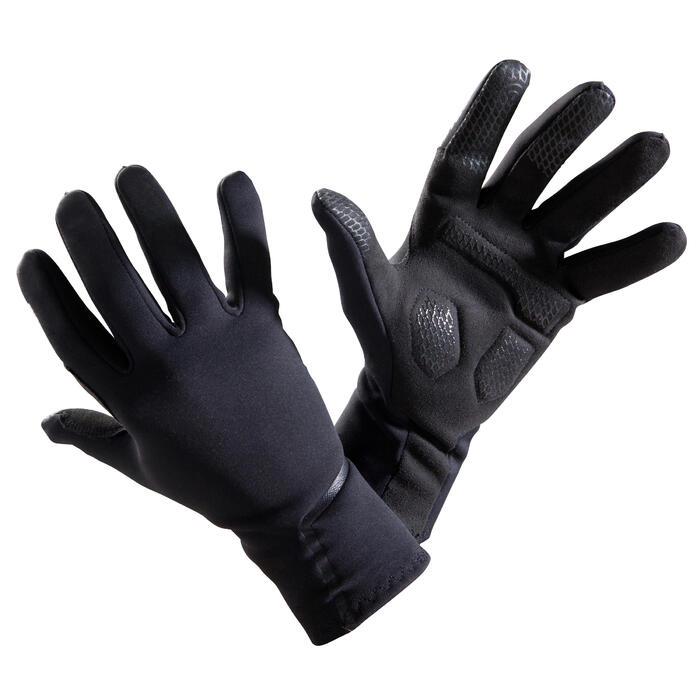 Fietshandschoenen 500 tussenseizoen zwart