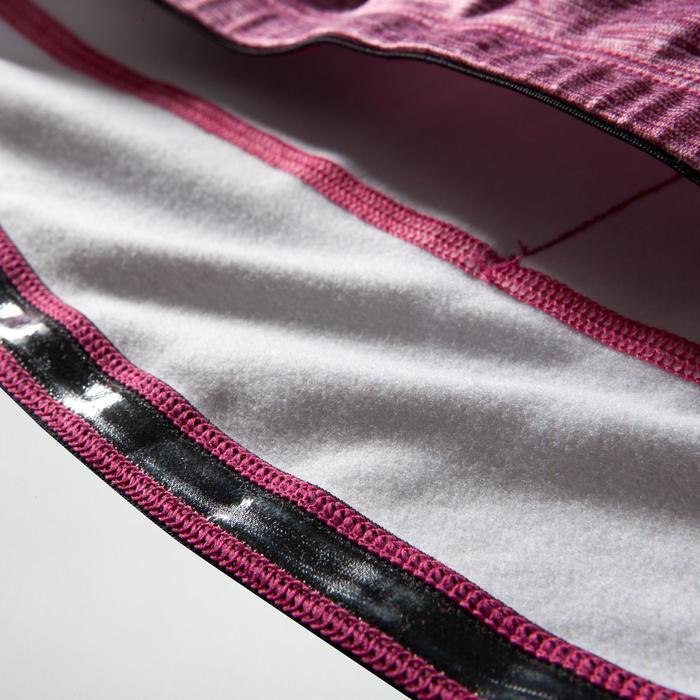 Fietsshirt 500 met lange mouwen voor dames paars/roze