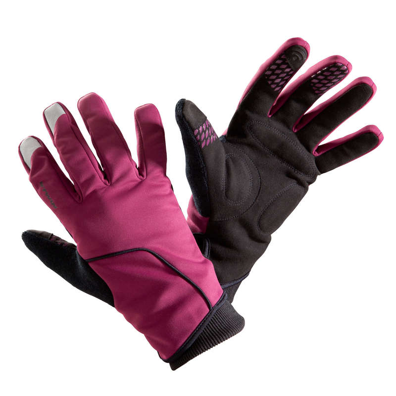 COLD WEATHER ROAD CYCLING GLOVES Cycling - RC 500 Winter Cycling Gloves - Purple TRIBAN - Clothing