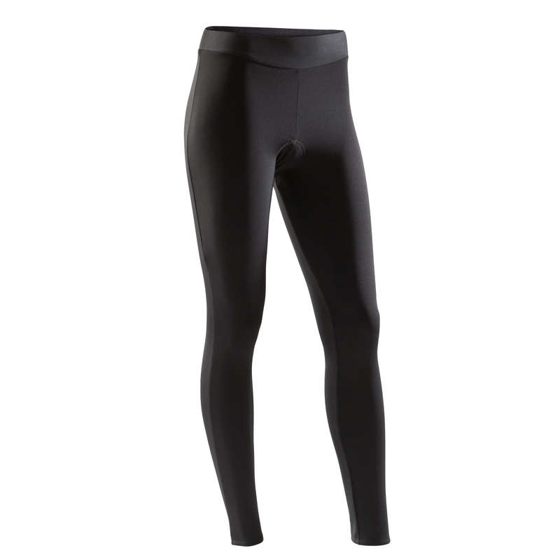 WOMEN COLD WEATHER ROAD APPAREL Clothing - RC 100 Women's Road Cycling Tights - Black TRIBAN - By Sport