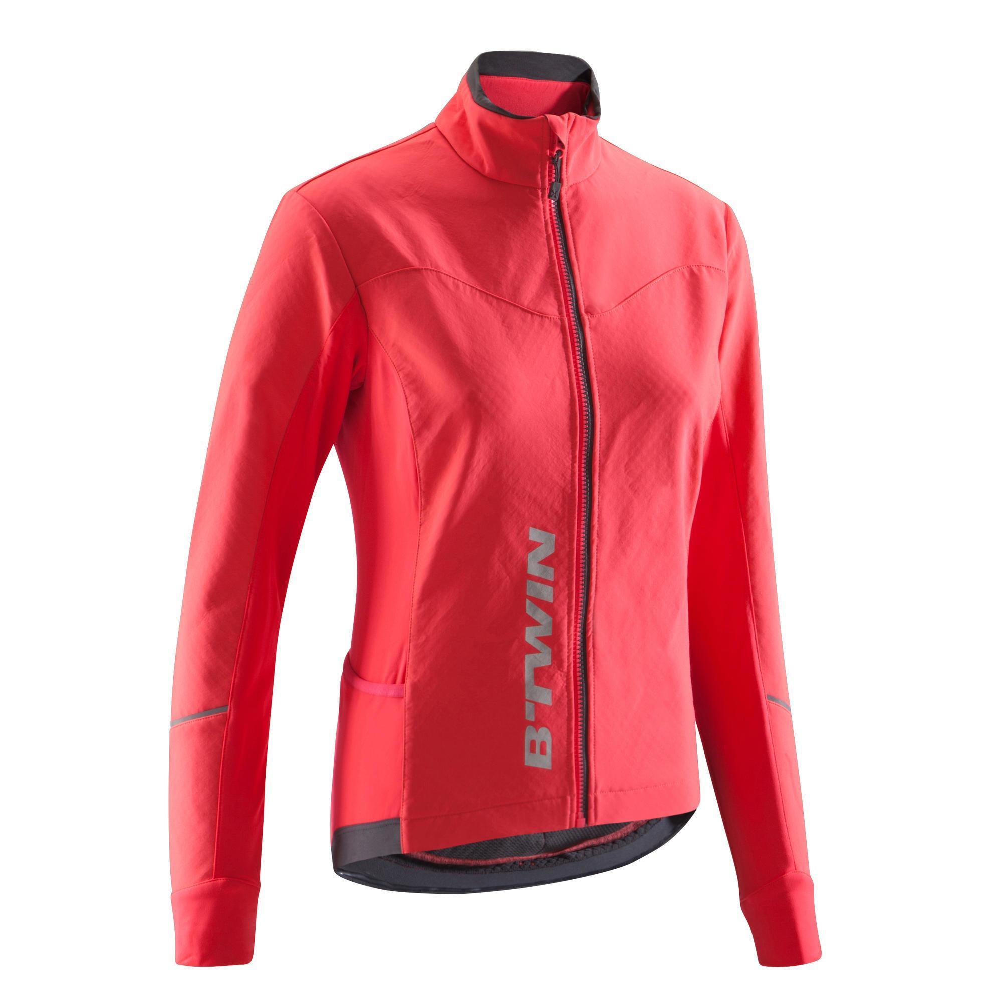 Fahrradjacke 500 Rennrad Damen rosa | Sportbekleidung > Sportjacken > Fahrradjacken | Rot - Rosa - Grau | B´twin