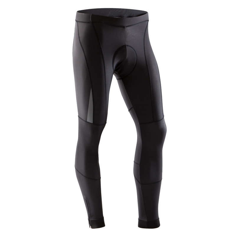 MEN COLD WEATHER ROAD CYCLING APPAREL Cycling - RR 900 Winter Road Cycling Tights - Black B'TWIN - Cycling