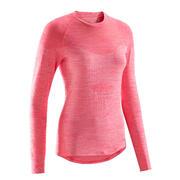 Rožnata ženska kolesarska majica 500 (osnovni sloj)