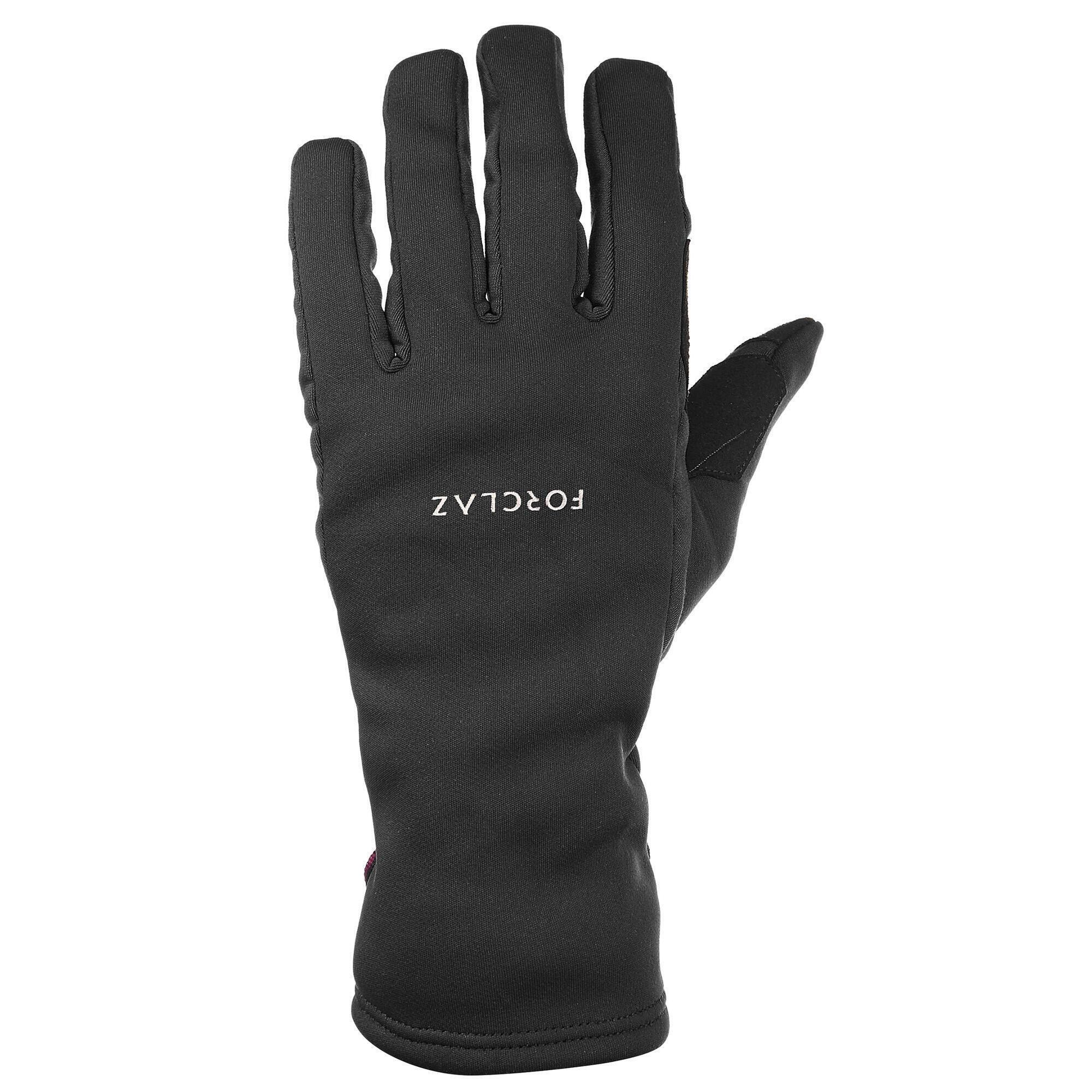 Trek 500 Adult Trekking Mountain Gloves - Black