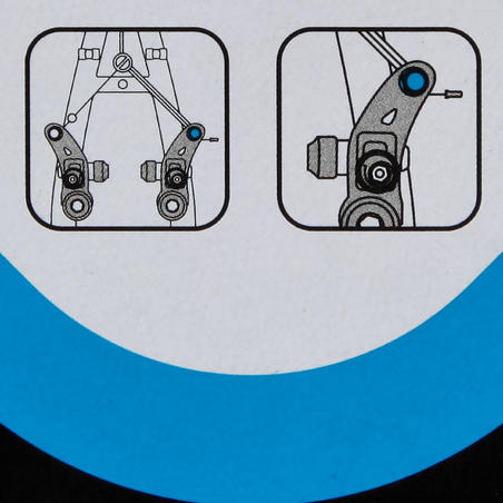 Konsoles tipa bremžu troses nostiprināšanas skrūve