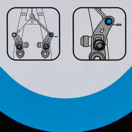 Зажим троса для кантилеверного тормоза