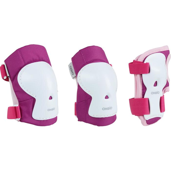 Kids' Set of Inline Skate Protectors Play - Pink/White