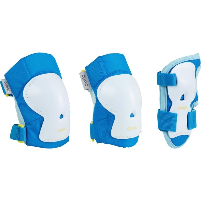 Play Children's 3-Piece Protective Gear for Skates/Skateboard/Scooter - Blue - 1226493