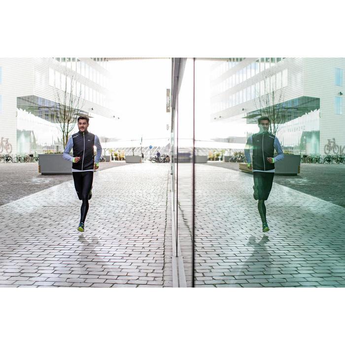 TEE SHIRT MANCHES LONGUES  RUNNING HOMME RUN WARM+ NOIR CHINé - 1226575