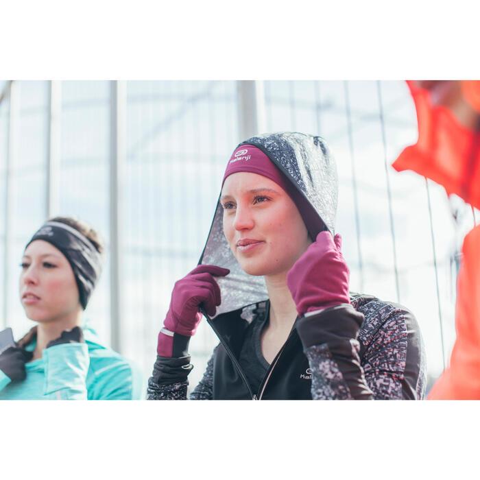 VESTE JOGGING FEMME RUN WARM HOOD - 1226582