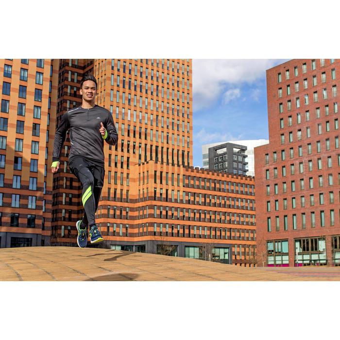 TEE SHIRT MANCHES LONGUES  RUNNING HOMME RUN WARM+ NOIR CHINé - 1226592