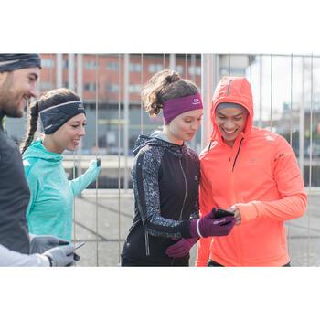 Run Warm Women's Running Jacket Hood - Black  - 1226600