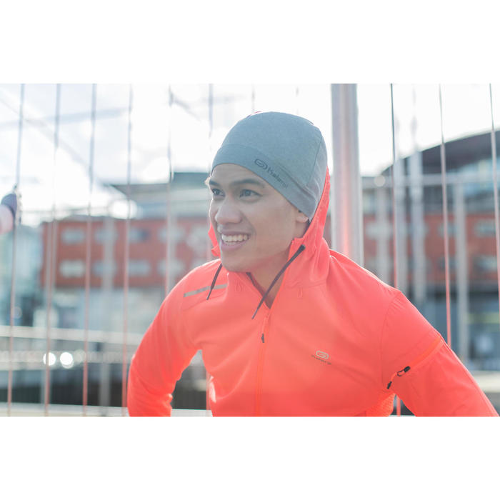 Muts voor hardlopen gemêleerd grijs