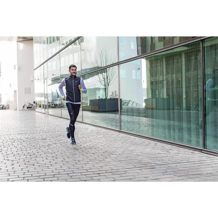 TEE SHIRT MANCHES LONGUES  RUNNING HOMME RUN WARM+ NOIR CHINé - 1226628